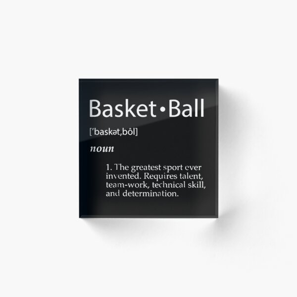 Basketball Acrylic Block