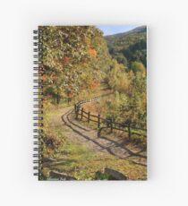Broken Fence Rail on Quabbin Trail Spiral Notebook