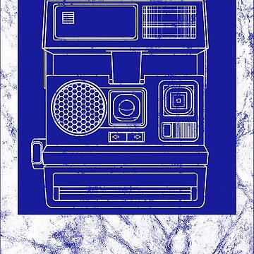 Vintage Distressed Polaroid in White by Kelly-Ferguson