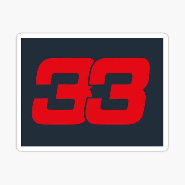 Number 33 Sticker