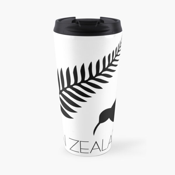 New Zealand Fern & Kiwi Icons Travel Mug