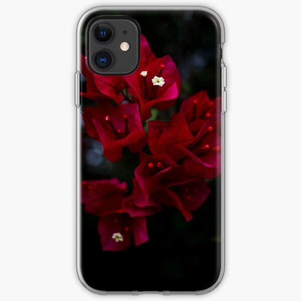 Deep Scarlet Glabra iPhone Soft Case