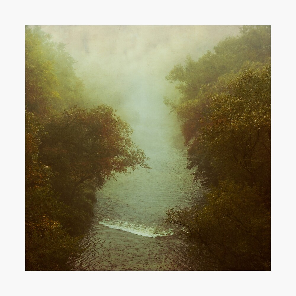 River in Fog Photographic Print