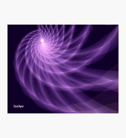 Purple Spiral Photographic Print