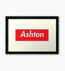 Hello My Name Is Ashton Name Tag Framed Print