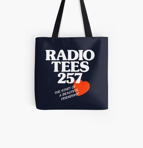 Local Radio: Radio Tees (white text) All Over Print Tote Bag