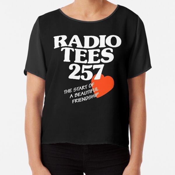 Local Radio: Radio Tees (white text) Chiffon Top