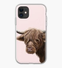 highland cattle portrait  iPhone Case