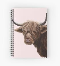 highland cattle portrait  Spiral Notebook