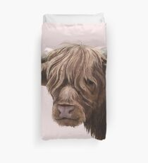 highland cattle portrait  Duvet Cover