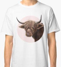 highland cattle portrait  Classic T-Shirt