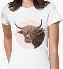 highland cattle portrait  Fitted T-Shirt
