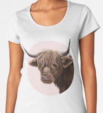 highland cattle portrait  Premium Scoop T-Shirt
