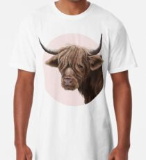 highland cattle portrait  Long T-Shirt
