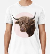 highland cattle portrait  Premium T-Shirt