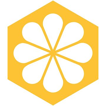Geometric Pattern: Hexagon Flower: White/Yellow by redwolfoz