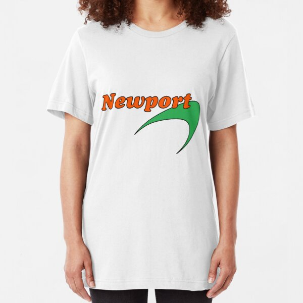 Newport Cigarette Vintage Brand Tee Slim Fit T-Shirt