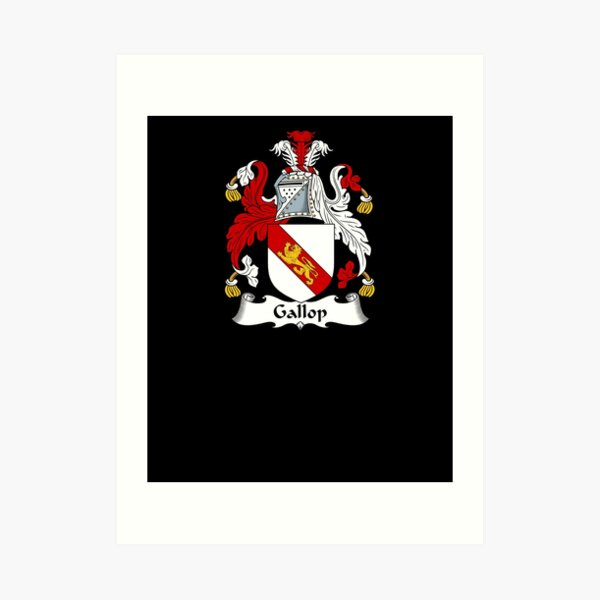 Gallop Coat of Arms - Family Crest Shirt Art Print