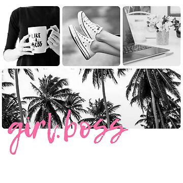 GIRLBOSS PINK MOOD BOARD TEE by VintageEmpire