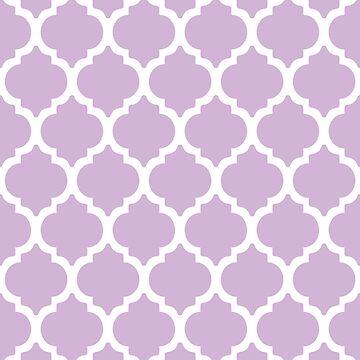 Light Purple Quatrefoil by LizaPhoenix