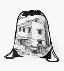 Jungle Cottage Drawstring Bag