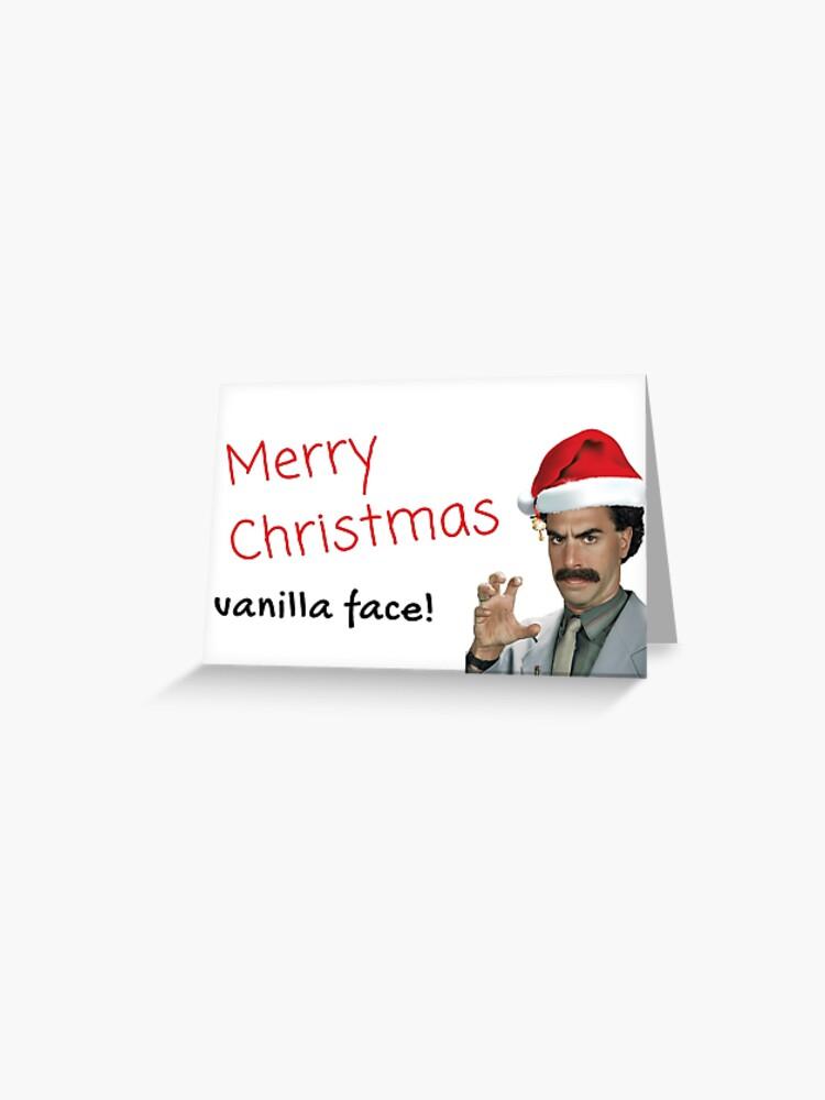 Frohe Weihnachten Freundin.Borat Weihnachtskarte Frohe Weihnachten Vanillegesicht Geschenke Geschenke Sticker Packs Freundin Freund Ehemann Ehefrau Schwester Bruder