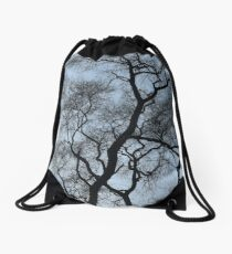 Tree in Winter Drawstring Bag