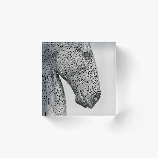 The Kelpies Sculpture in Falkirk Scotland Acrylic Block