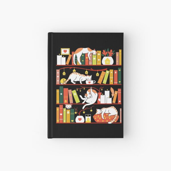 Library cats - autumn colour version  Hardcover Journal