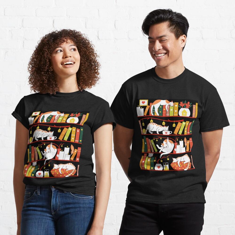 Library cats - autumn colour version  Classic T-Shirt