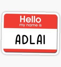 Greta - Hello My Name is Greta Sticker