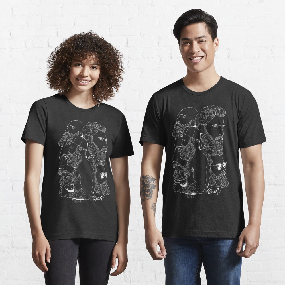 Bear Montage (White lines) Essential T-Shirt