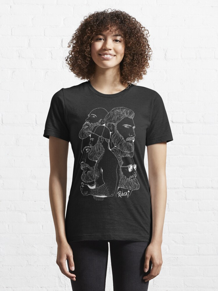 Alternate view of Bear Montage (White lines) Essential T-Shirt