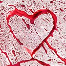 Heart shape from splaches and blobs by siloto