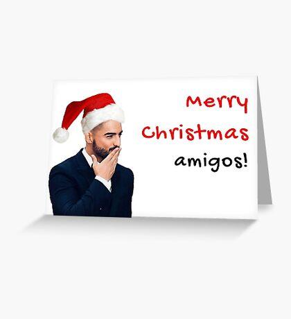 Feliz Navidad Amigos, Maluma, Tarjeta de Navidad, Novio, Novia, Esposo, Esposa, Mejor amigo, Amigos, Rad, Lit, Regalos, Regalos, Tarjetas de felicitación Meme Tarjeta de felicitación