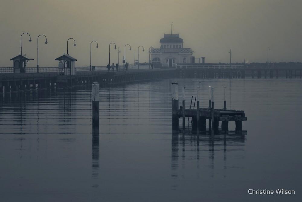 St Kilda Pier, Melbourne  by Christine Wilson