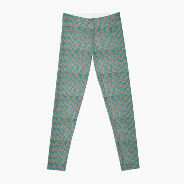 Aqua Pink Hand Crochet Pattern Leggings