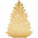 Gold Weihnachtsbaum von blursbyai