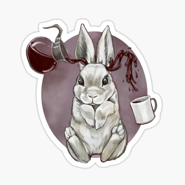 Coffee Bunny Sticker