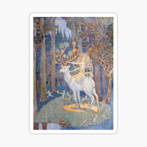 Magical Forest Christmas by Jessie Bayes Sticker