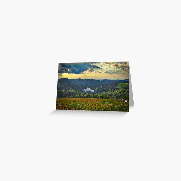 Dans les Vosges, France Carte de vœux
