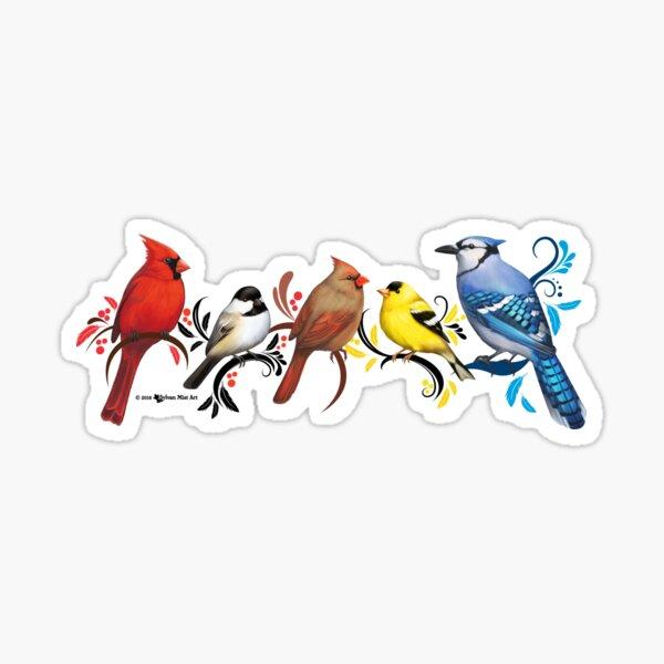 North American Wild Birds Sticker