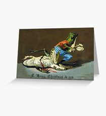 Macabre Victorian Christmas Greetings - Criminal Frogs Greeting Card