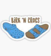 Birk n Crocs Sticker