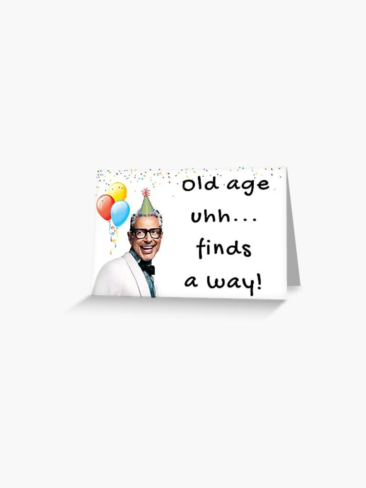 jeff goldblum birthday card quotes gifts presents boyfriend