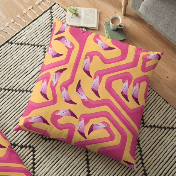 Flamingo Maze Floor Pillow