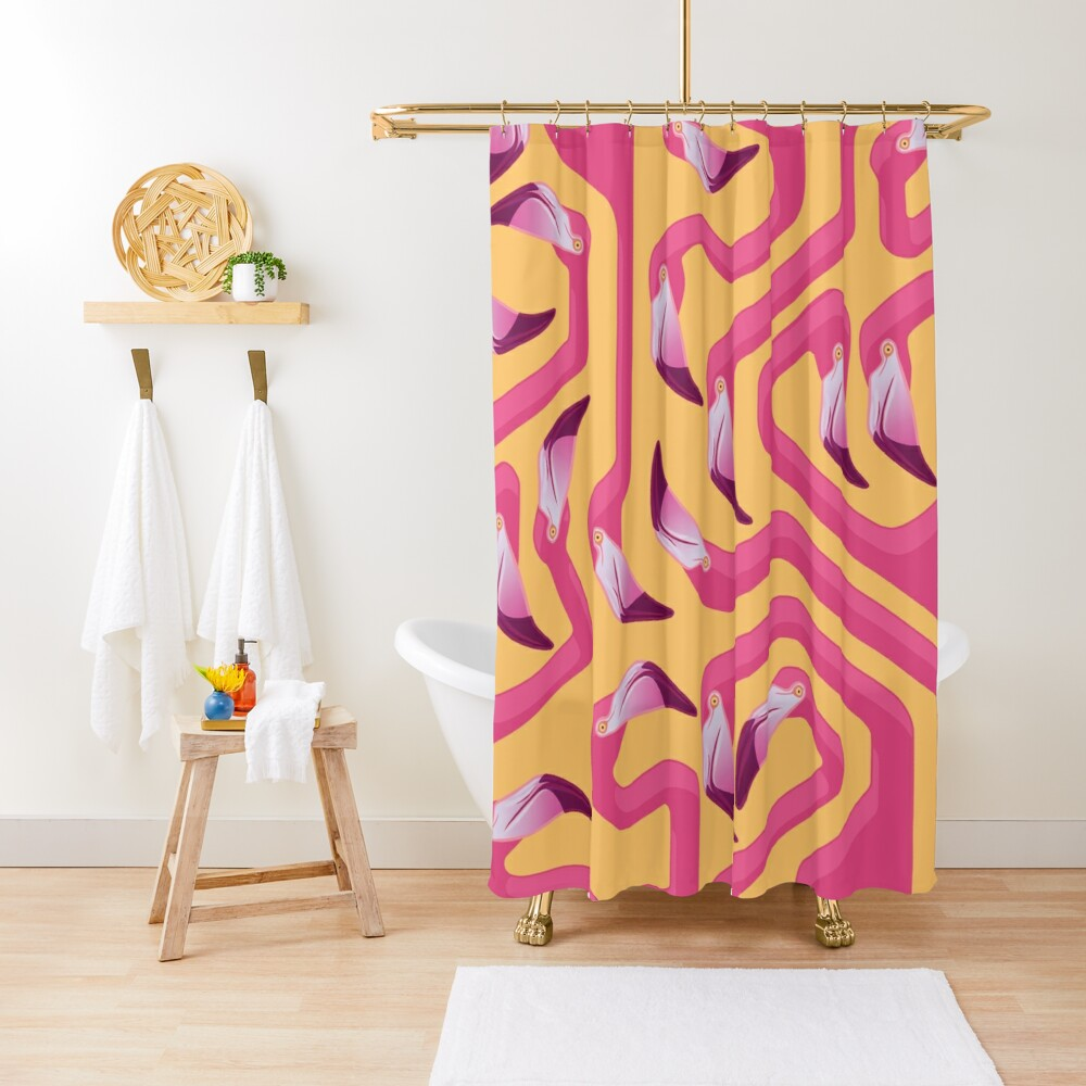 Flamingo Maze Shower Curtain