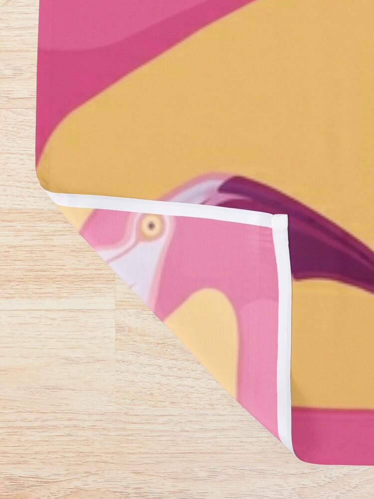 Alternate view of Flamingo Maze Shower Curtain