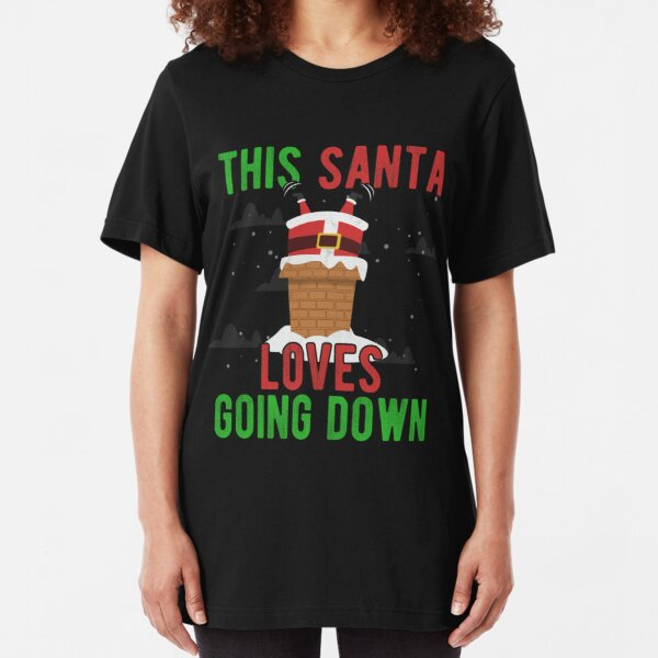 Fun Santa I LOVE XMAS Novelty Themed Women/'s T-Shirt Christmas Pudding