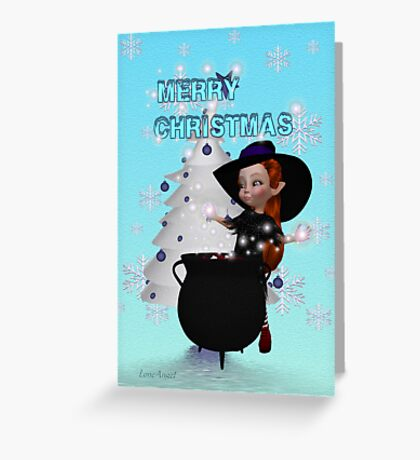 A Witchy Merry Christmas Greeting Card